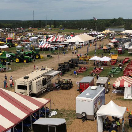 Wisconsin Farm Technology Days Arial Photo